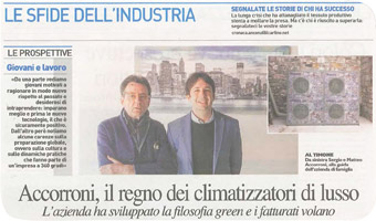 newspaper artiche A2B ACCORRONI E.G
